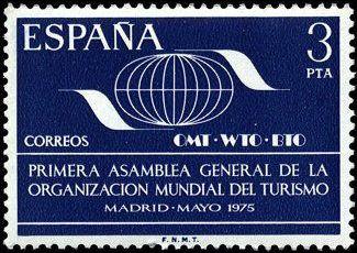 Serie Iª Asamblea Gral. de la Organización Mundial del Turismo del 12 de mayo. de 1975